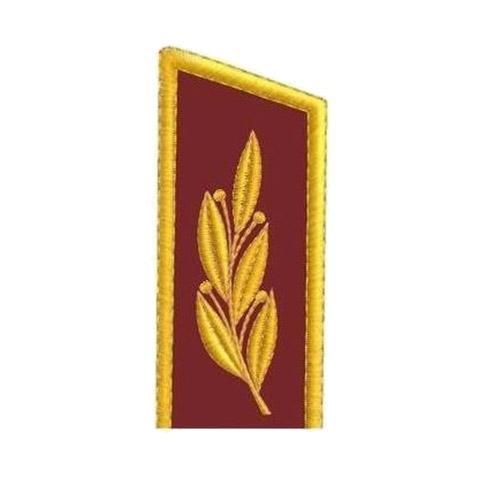 Вышивка на воротнике генерала