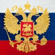 Вышивка герба на флаге золотом и серебром