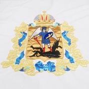 Герб Архангельской области, вышитый золотом и серебром
