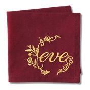 Вышивка золотыми нитями на салфетках