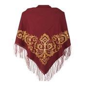 Золотая и серебрянная вышивка на платках и палантинах