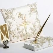 Золотая и серебрянная вышивка на свадебных аксессуарах